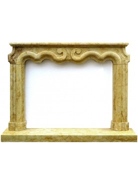 Yellow Marble fireplace frame