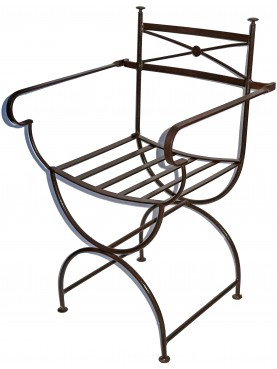 Large armchair wrought-iron - emperor