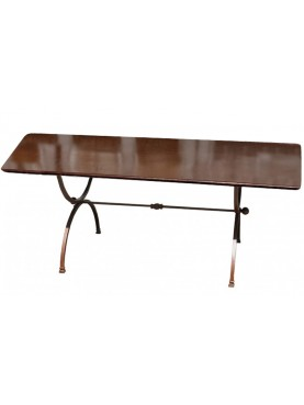 Rectangular forged iron table 245 cm