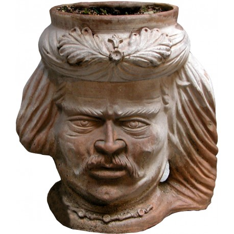 Big cachepot in terracotta