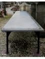 Enorme tavolo in marmo bianco di Carrara lungo 4 m.