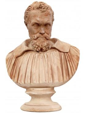 Michelangelo Buonarroti terracotta bust