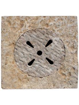 Italian traditional ancient stone manhole