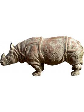 Assam Indian rhinoceros (Rhinoceros unicornis) terracotta repro