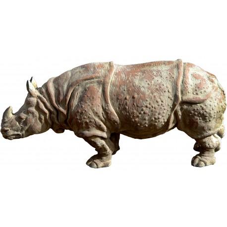 Il Rinoceronte Indiano in terracotta