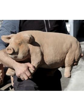 Big terracotta pig