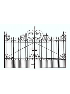 Wrought iron garden gate 4,10 m. italian