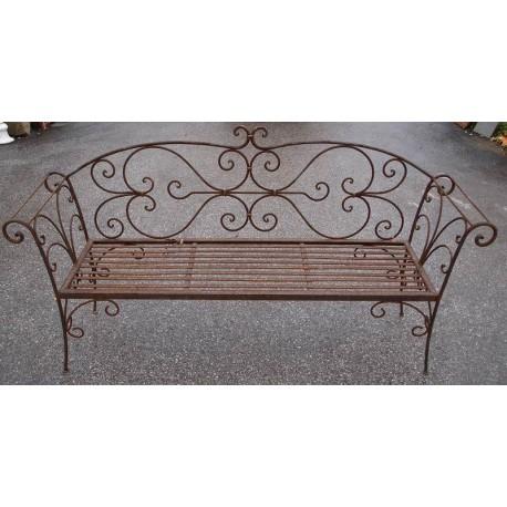 Settee iron bench