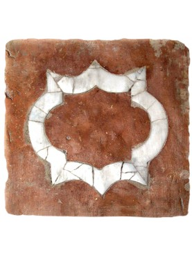 Tuscan terracotta square with inlay