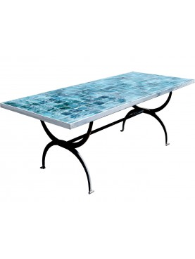 Table with moroccan tiles