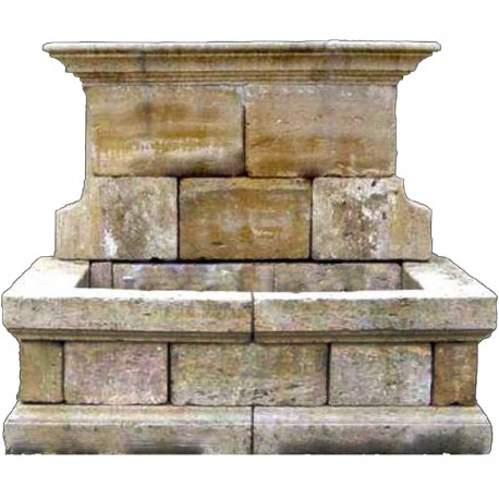 Large stone fountain old wash