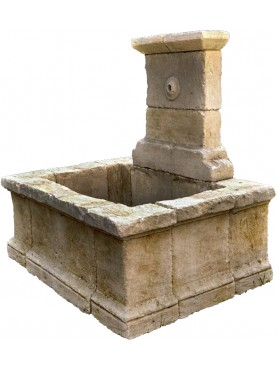 Large stone fountain ancient old wash