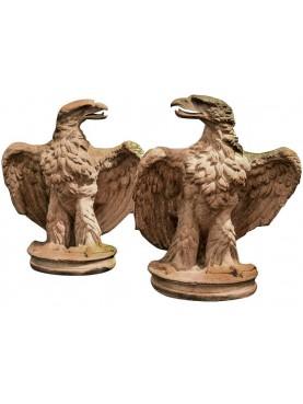 Terracotta golden eagles slopes
