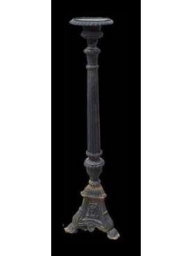 Cast iron candlestick