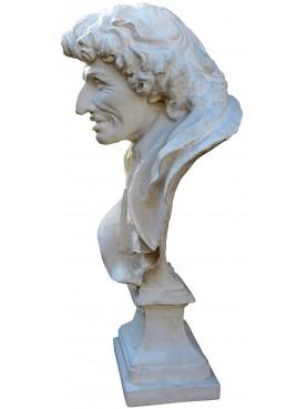 Busto in gesso di Antonio MAGLIABECHI bibliotecario