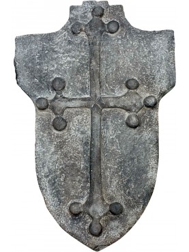 Stone Coat of arms with Medioeval Pisa cross