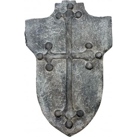 Croce Pisana su stemma in pietra arenaria grigia