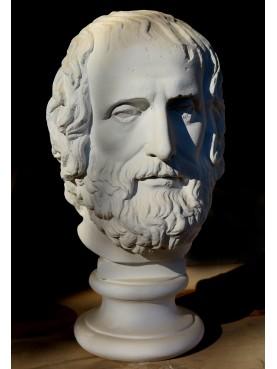 Testa di Euripide in gesso, copia dell'Erma dei Musei Capitolini