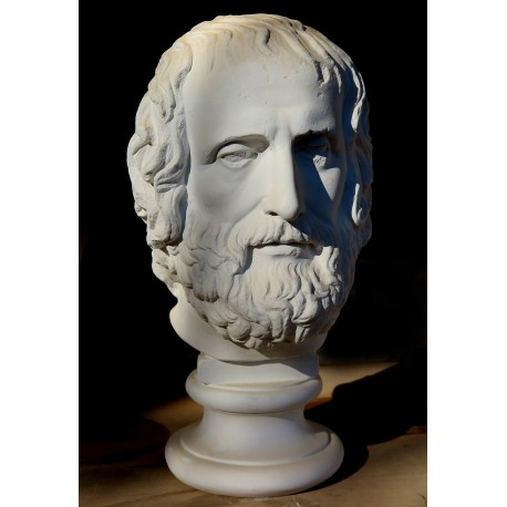 Euripides Head plaster, copy of the Capitoline Museums Erma