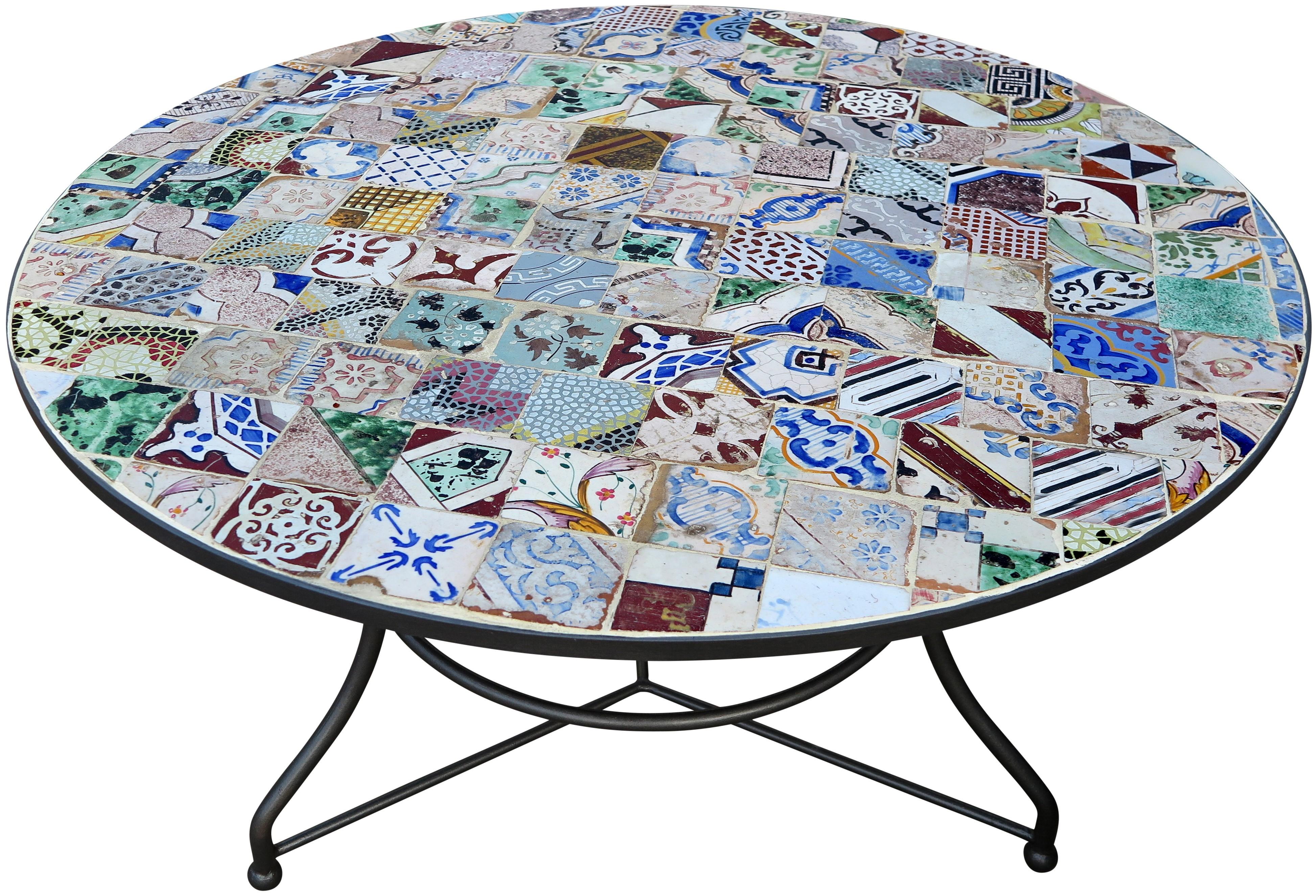 Tavoli con piastrelle tavolo da pranzo con piastrelle e - Tavolo braccio di ferro ...
