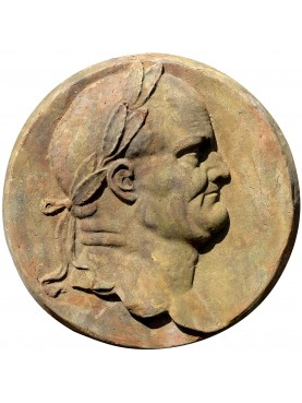 Round Roman bas-relief in terracotta