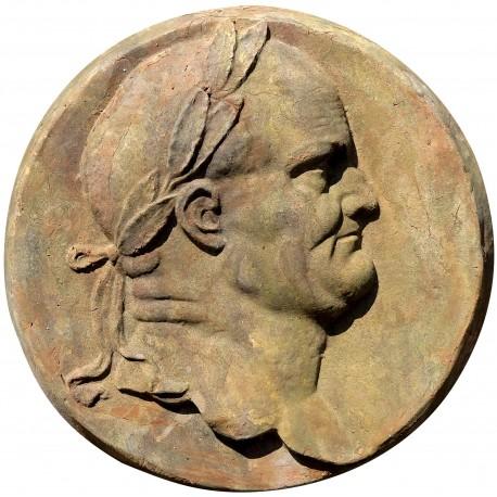 Round Roman bas-relief in terracotta
