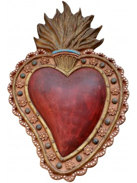 Italian Ex-vote - terracotta - shape of Heart