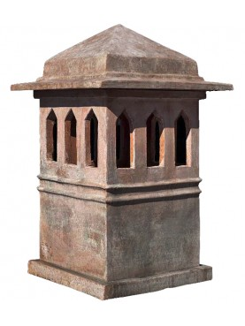 Tuscan chimney pot - terracotta Impruneta