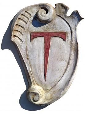 Stemma in maiolica dei Cavalieri del TAU di Altopascio