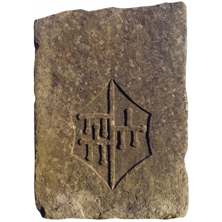 Malaspina coat of arms - sandstone