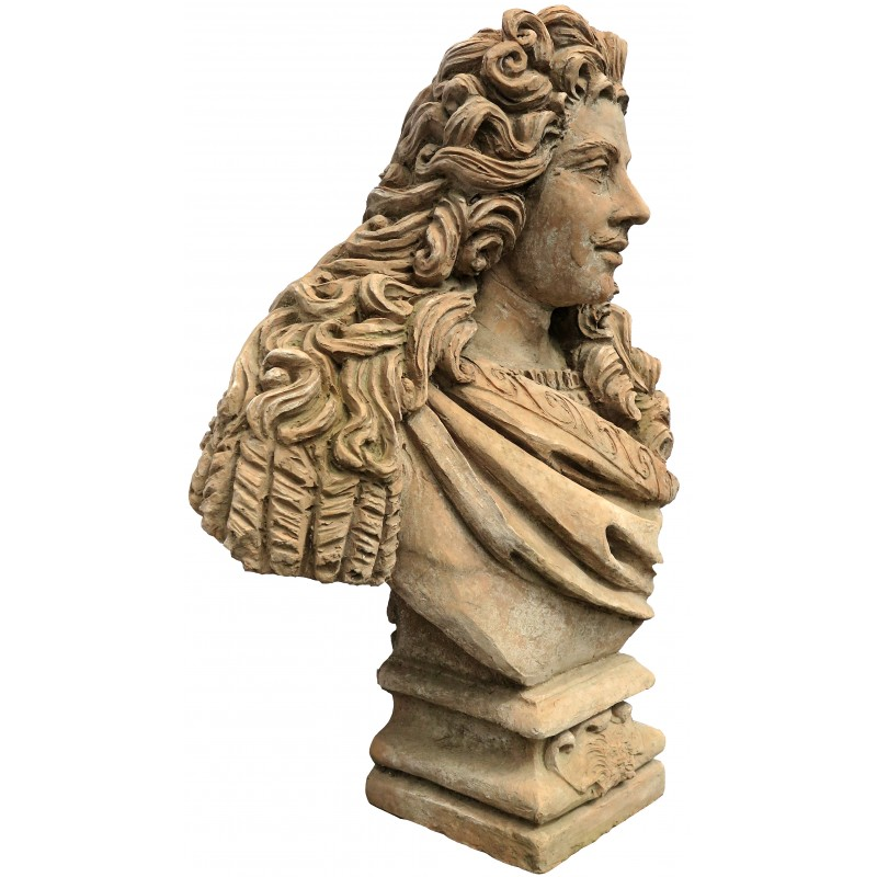 Bust Of Louis Xiv Of France Sun King Le Roi Soleil Terracotta