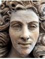 Busto di Luigi XIV di Borbone, detto il Re Sole - terracotta patinata