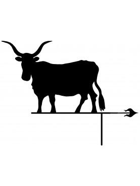 Banderuola Mucca Maremmana segnavento ferro