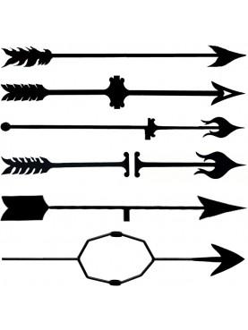 Frecce per banderuola segnavento in ferro battuto