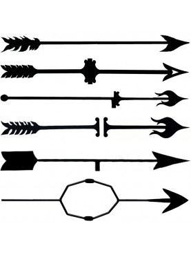 Weather van arrows - wrought iron