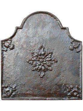 Fireback cast-iron with flower