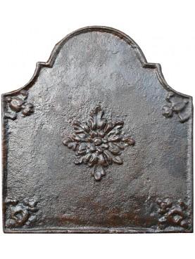 L 49 cm - Fondale di camino semplice con rosetta