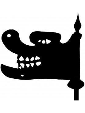 Dragone in ferro - banderuola francese - Borgogna