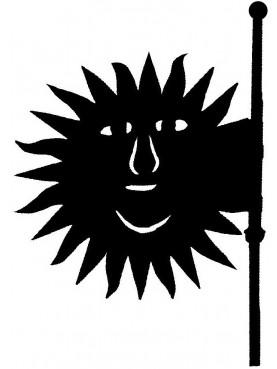 Banderuola segnavento Francese a forma di Sole - Mayenne