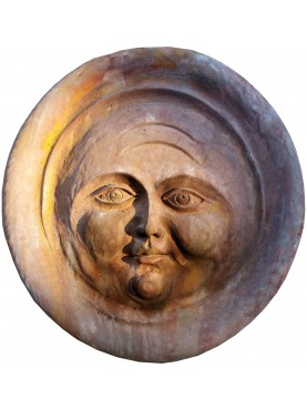 luna vittoriana - tondo in terracotta - bassorilievo