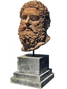 Farnese Hercules head - terracotta perfect repro 1:1