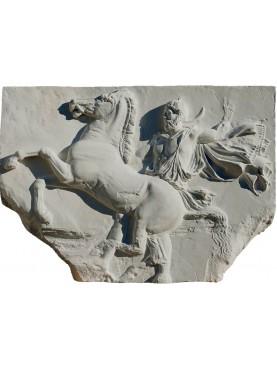 Cella del Partenone metopa gesso Atene - Alessandro Magno a cavallo
