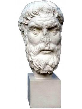 Epicuro - plaster cast head - I C. b.C. Palazzo Massimo , Roma