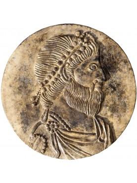 Tondo bassorilievo in pietra con ritratto di Giuliano l'Apostata