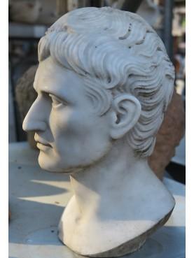 La nostra testa di Augusto - marmo bianco di Carrara
