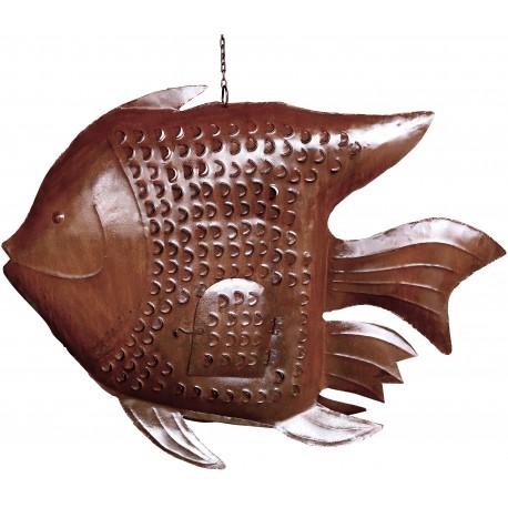 Iron Fish candle holder