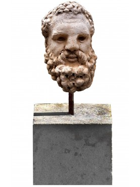 Small Farnese Hercules head with base