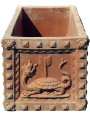 Great terracotta flowers pot from Impruneta - tigers and dragons