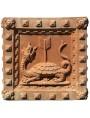 Grande cassetta in terracotta dell'Impruneta con Tigri e Draghi