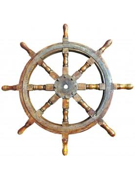Ruota del Timone antico di nave